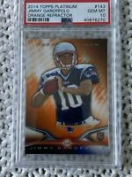 2014 Topps Platinum 49ers Jimmy Garoppolo RC SP Orange Refractor PSA 10 POP 73