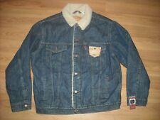 Vtg Style New W Tags Mens Xl Levis Denim Jean Sherpa Jacket