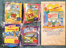 Vintage 1992 McDonald's Happy Meal Toys - BEHIND THE SCENES - Mint Set (4) + Bag