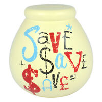 Ceramic Money Jar Piggy Bank Soft Yellow Ceramic Save Save $$ Pot of Dreams
