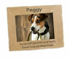 Dog Memorial Photo Frame fits  6 x 4 Photo  engraved  Personalised Memento  #1