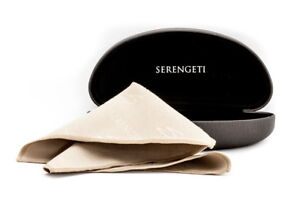 Serengeti Sunglasses Carrying Case & Microsuede Cleaning Cloth Authorized Dealer