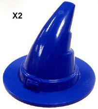 LEGO *Lot of 2* BLUE Witch / Wizard Hats Minifig Accessory! Harry Potter, Castle