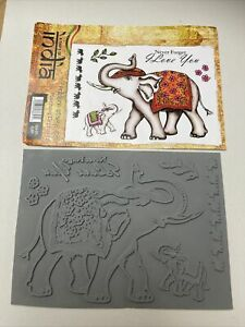 Sheena Douglass A Taste If India Marching Elephant- New Rubber Unmounted Stamp