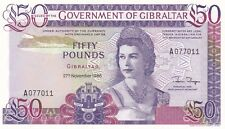 More details for p24 gibraltar 1986 fifty pounds banknote in near mint condition