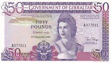 P24 Gibilterra 1986 cinquanta sterline banconote in condizione Quasi Nuovo