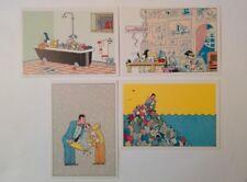 4 cartes postales Joost Swarte NEDERLAND 1984