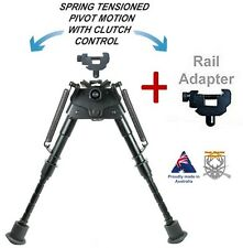 "Rifle Gun Bipod Stick 6""-9"" with Pivot Motion+ IRS Adaptor for Harris Adjustable"