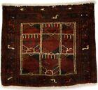 Tribal Design Rusty Red Vintage 2X2 Small Square Rug Oriental Farmhouse Carpet