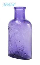 Pure PURPLE antique HUMPHREYS' VETERINARY SPECIFIC medicine bottle w/ HORSE