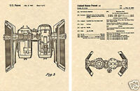Star Wars TIE BOMBER US PATENT Art Print READY TO FRAME! George Lucas rebel ship
