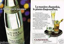 Publicité advertising 1979 (2 pages) Eau de Vie Poire Williams Cusenier