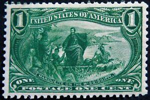 Scott #285 – 1¢ Trans-Mississippi Exposition, M, OG, NH, XF, SCV*=$225