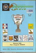 #UU.  NEWCASTLE RUGBY LEAGUE PROGRAM ROUND 22,  7th August 2004