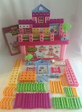 Fisher-Price TRIO Blocks Pink Girl Colors 140pc Building Lot