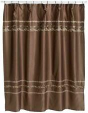 Croscill Mosaic Fabric Shower curtain Mocha Brown Embroidered Tile 70 x 75 NEW