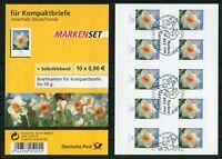 Bund 10 x 2515 SK Blumen Folienblatt FB 1 gestempelt ESST Selbstklebende BRD