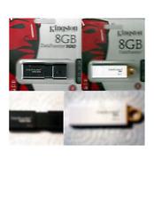 NEW LOT OF 4 KINGSTON 8GB DATA TRAVELER USB 3.1  Thumb/Flash Drives White/Black