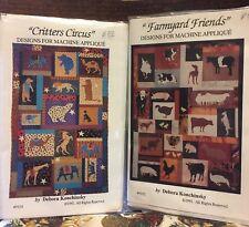 Critters Circus Farmyard Friends 2 Designs Machine Applique Debora Konchinsky