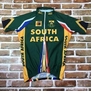 Panda Sportswear South Africa 1/4 Zip Cycling jersey Men's Small Yellow Green