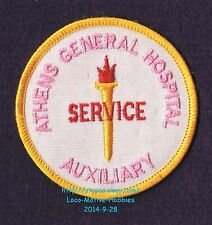 LMH PATCH Badge ATHENS GENERAL HOSPITAL  Medical Center  AUXILIARY VOLUNTEER  GA