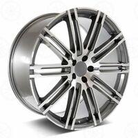 "22"" Machined Face W/Gunmetal Outline Wheels Fits Porsche Cayenne, Turbo, Hybrid"
