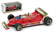 Brumm R576-CH Ferrari 312 T5 #1 Monaco GP 1980-Jody Scheckter 1/43 Escala