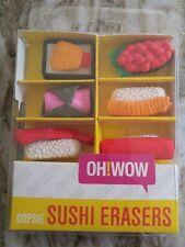 Oh!wow Eraser Set - Sushi Assortment 6 pieces