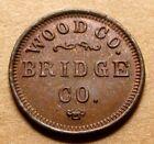 Wisconsin Non-Contemporary Token - Wood County Bridge Company - Very Nice UNC