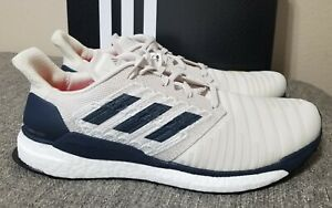Adidas Solar Boost M Men's Running Shoes Raw White/Legend Ink D97435 New Size 12