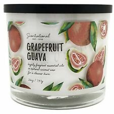Scentsational Natural Coconut Wax 26oz Cotton 3 Wick Candle - Grapefruit Guava