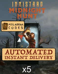 Magic MTG Arena Innistrad: Midnight Hunt 5 Boosters Promo Pack Code Card MID