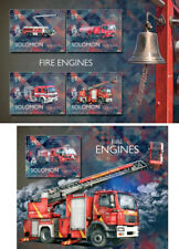 Fire Engines Special Transport Firefighters Ships Solomon Islands MNH stamp set