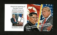 Sierra Leone 2018 - Donald Trump Meeting Kim Jong-un - Souvenir Sheet - MNH