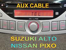 SUZUKI ALTO NISSAN PIXO CAR RADIO NSCR-04 AUX CABLE mP3 ipod iphone smartphone
