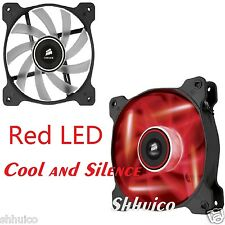 Red LED Corsair Air Series AF120 LED Quiet Edition High Airflow Cool Case Fan