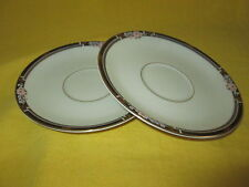 Mikasa Florisse Black SAUCERS - SET of TWO (2) have more items to this set