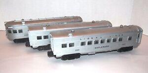 Lionel Postwar 2421 2422 2423 Streamlined Pullman Cars! PA