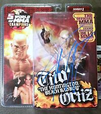 Tito Ortiz Autographed ROUND 5 FIGURE Signed UFC JSA PSA BELLATOR Toy WOMMA