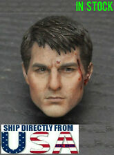 1/6 Scale Tom Cruise Head Sculpt B For Hot Toys PHICEN Male Figure U.S.A. SELLER