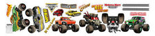 MONSTER JAM trucks wall stickers 19 decals room decor GRAVE DIGGER EL TORO LOCO