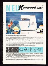 3w2152/ Alte Reklame von 1960 - KENNWOOD - Küchen-Komfort - Stuttgart