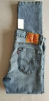 LEVI STRAUSS Men 502 Regular Taper Stretch Cotton Denim Jeans - 32x30 Med Blue