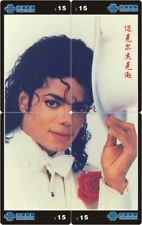 Michael Jackson 4 telefoonkaarten/télécartes  (MJ58-77 4p)