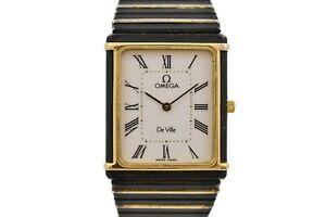 Vintage Omega De Ville Cal.1455 Quartz Bi-Metal PVD Ladies Watch 1859