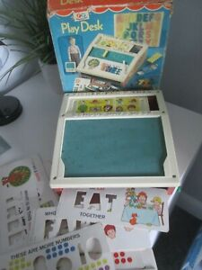 ORIGINAL VINTAGE 1970's FISHER PRICE PLAY DESK WITH BOX