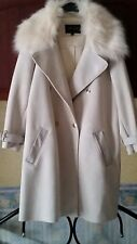 River Island cream faux suede fur collared coat/jacket Size 18 ❤