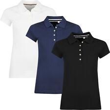 New Womens Polo Shirts Short Sleeve Ladies Plain Summer Pique Cotton T Shirt Top