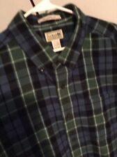 L. L. Bean Scotch Plaid Flannel Shirt Mens Xl Tall Traditional Fit