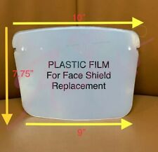 12Pcs PLASTIC FILM For REPLACEMENT only For Face Shield Clear Glasses Protector